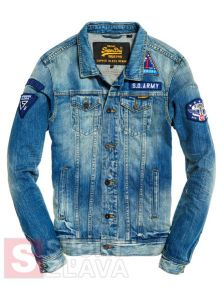 Pánska bunda SUPERDRY ROGUE PATCH TRUCKER JKT M50004JPIY1