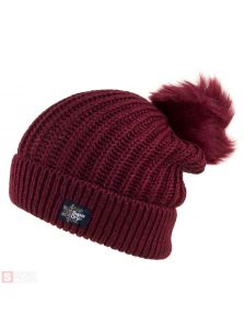 Dámska čiapka SUPERDRY ARIES SPARKLE FUR BOBBLE HAT G90005YPGE4