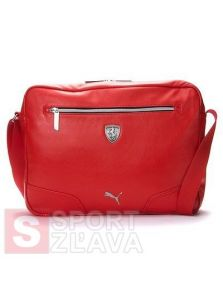 PUMA Ferrari LS Messenger Shoulder Bag Red (07159502
