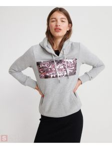 SUPERDRY Vintage Logo Star Sequin Hoodie W2000068A-07Q