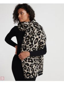 SUPERDRY LISA LEOPARD SCARF W9300006A-H6L