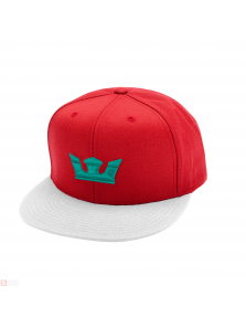 SUPRA ICON SNAP HAT RED/WHT/TEA C3502-686